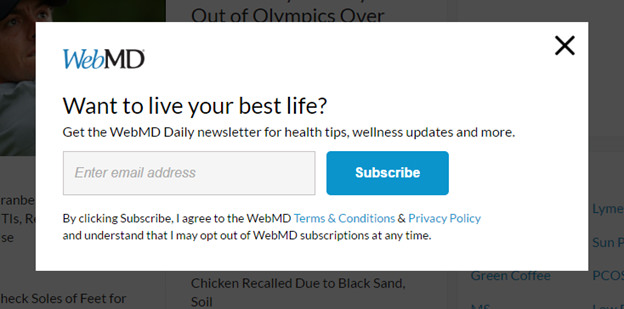webmd-lead-generation-popup